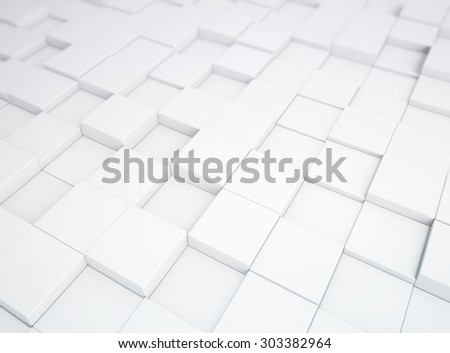Abstract white 3d blocks background