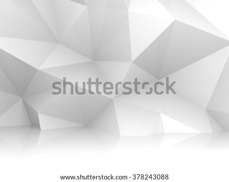Abstract white 3d interior with chaotic polygonal relief pattern on the wall - stock photo