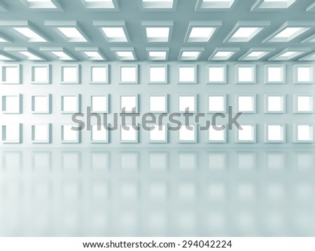Abstract White Design Architecture Background.3d Render Illustration - stock photo