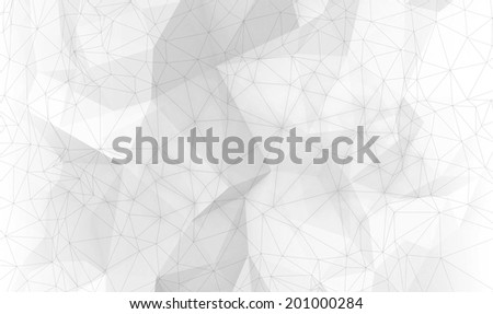 Abstract white digital 3d polygonal surface background texture - stock photo