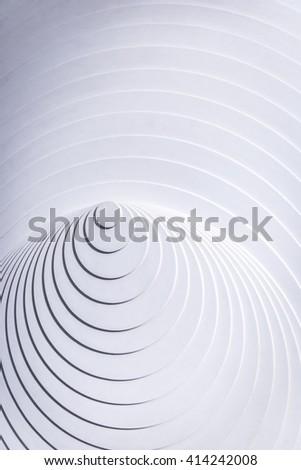 Abstract white eccentric circles - stock photo