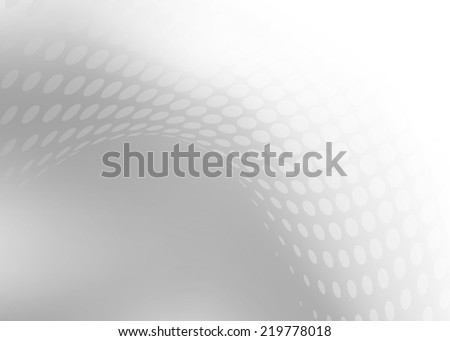 Abstract white & grey abstract dot swirl background with plenty of copy space - stock photo