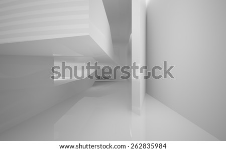 Abstract white interior