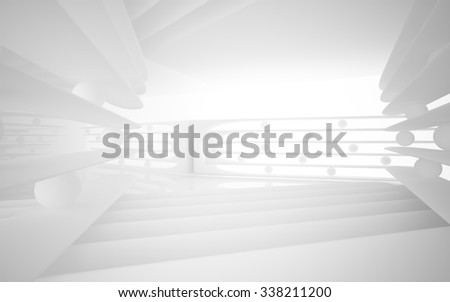 Abstract white interior.  3D illustration. 3D rendering