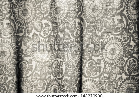 Abstract white lace blinds window pattern background - stock photo