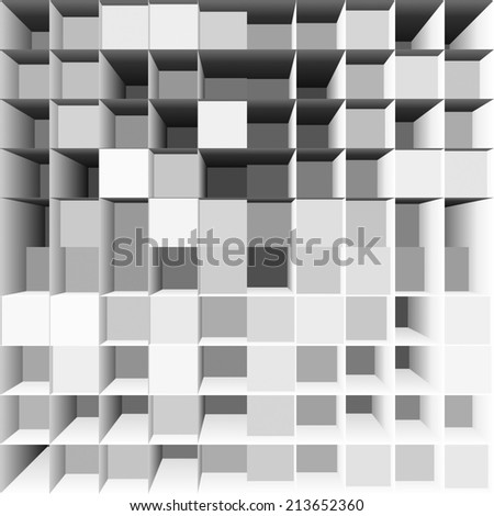 abstract white square backgrounds
