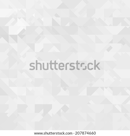 Abstract white triangle background - stock photo