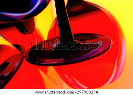 Abstract wine glassware background design .