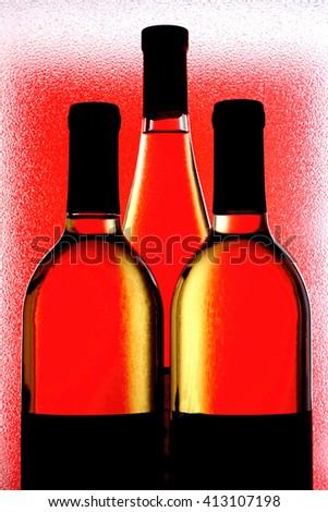 Abstract wine glassware  background design. - stock photo