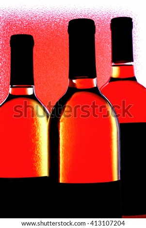 Abstract wine glassware  background design.