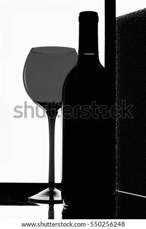 Abstract Wine Glassware Background Design