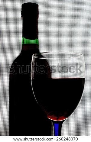 Abstract Wine Glassware Design - stock photo