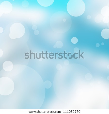 Abstract Winter background with beautiful bokeh - stock photo