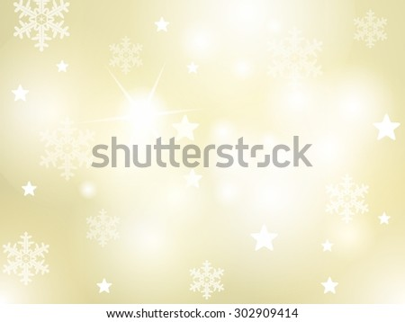 Abstract winter background with snowflakes, stars and sparkling lights