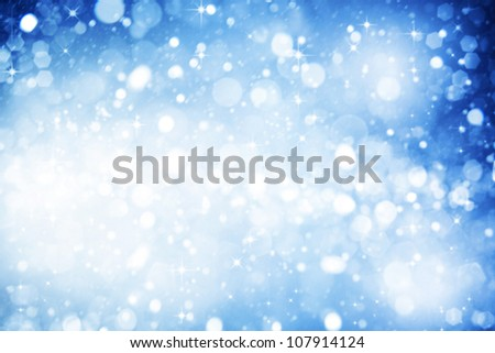 Abstract winter backgrounds with beauty bokeh - stock photo