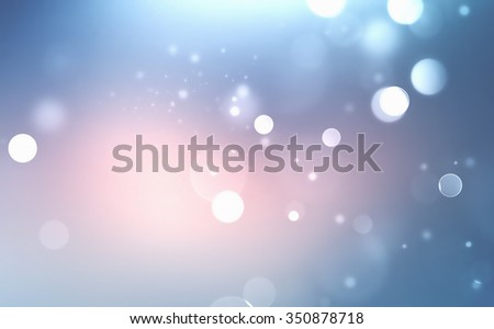 abstract winter blurred background with soft light bokeh effect - stock photo
