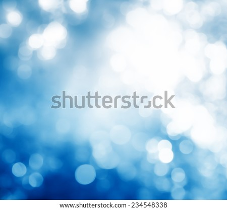 Abstract Winter bokeh - stock photo