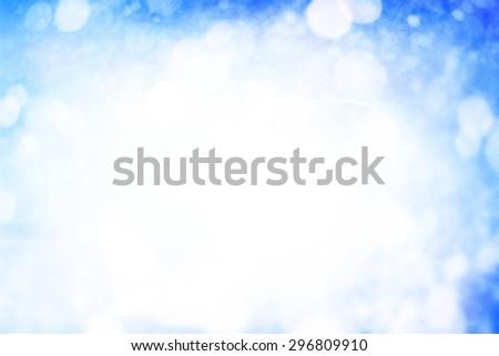 Abstract Winter bokeh - stock photo