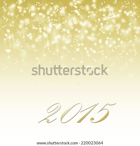 abstract winter card happy new year 2015
