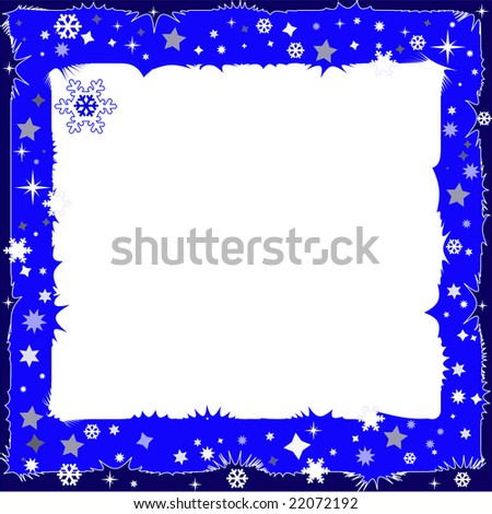 Abstract winter dark blue background with a place for an inscription