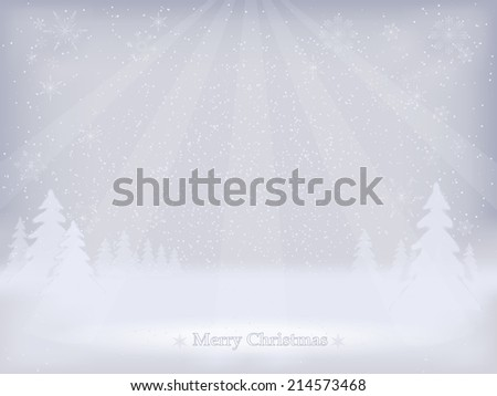 Abstract winter landscape background. Winter background. Vector