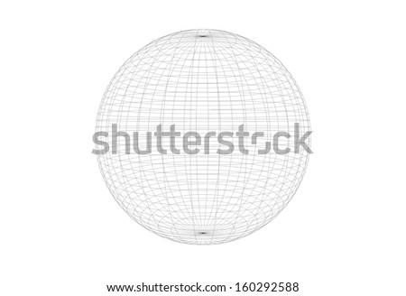 Abstract wireframe of sphere - stock photo