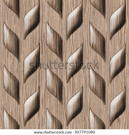 Abstract wooden paneling pattern - seamless background - Blasted Oak Groove wood texture - stock photo