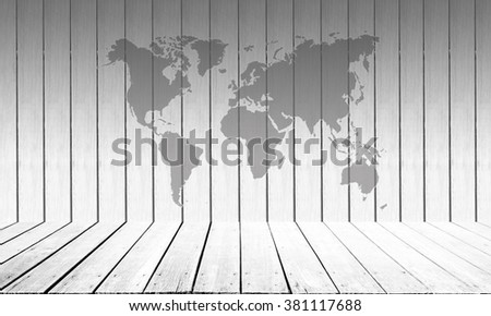 Abstract wooden wall White color map background. - stock photo