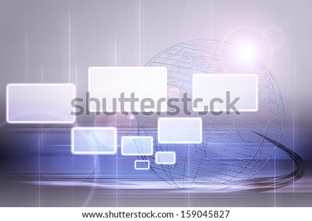 Abstract  world and technology background
