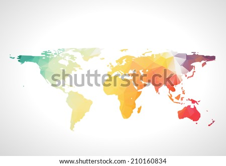 World map low poly design origami stock vector 508069162 abstract world map americas globe australia usa earth atlas gumiabroncs Image collections