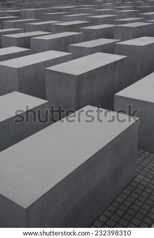 abstract ww2 memorial in central berlin - stock photo