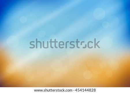 Abstract yellow and blue background with rays