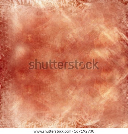 Abstract yellow and brown background or paper with grunge texture