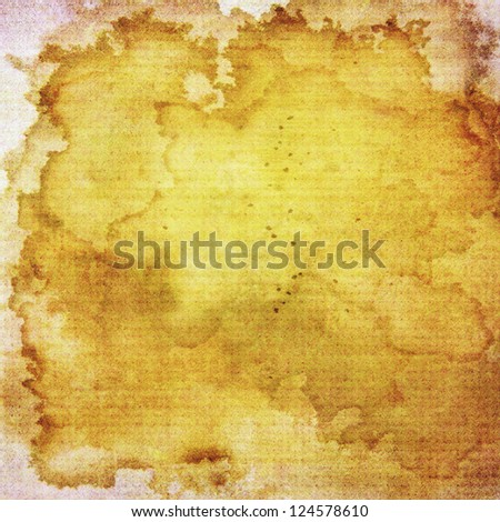 Abstract yellow and brown background or paper with grunge texture. For vintage layout design of colorful graphic art or border frame - stock photo