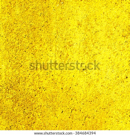 abstract yellow background cement texture . Concrete wall