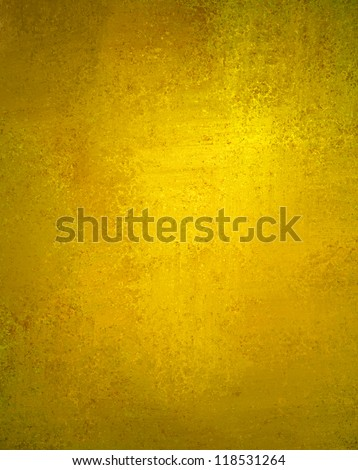 abstract yellow background or gold Christmas background with bright center spotlight, vintage grunge background texture, gold Christmas wrapping paper layout design for luxury holiday background ad - stock photo