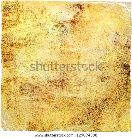 Abstract yellow background or paper with dark border frame and grunge background texture. For vintage layout design of light colorful graphic art - stock photo