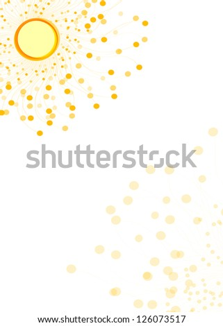 Abstract yellow background. Raster illustration