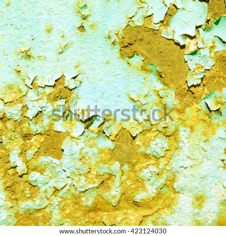 abstract yellow background texture rusty metal wall