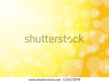 abstract yellow background with bokeh - stock photo
