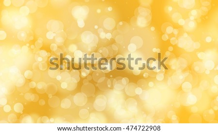 abstract yellow bright bokeh for background