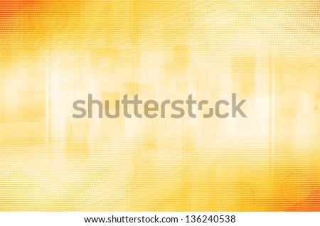 abstract yellow circles and square background - stock photo