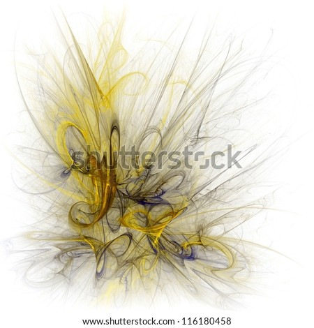 Abstract yellow fractal illustration.