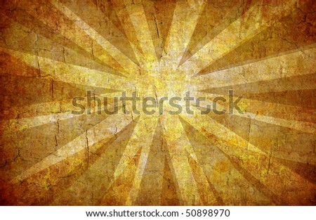 abstract yellow grunge background with sun rays for multiple uses