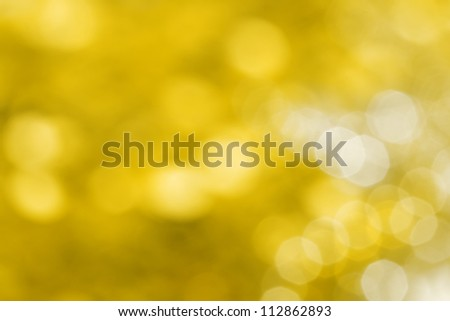 Abstract  yellow holiday lights