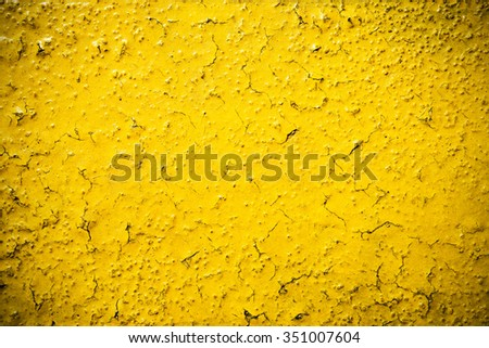 Abstract yellow metal, texture  background.