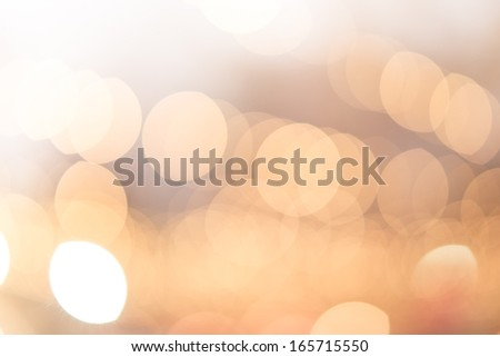 Abstract Yellow, Orange & Golden blurred lights christmas bokeh background
