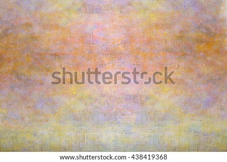 Abstract yellow orange oil painting background with brush strokes texture on canvas. Art concept. - stock photo
