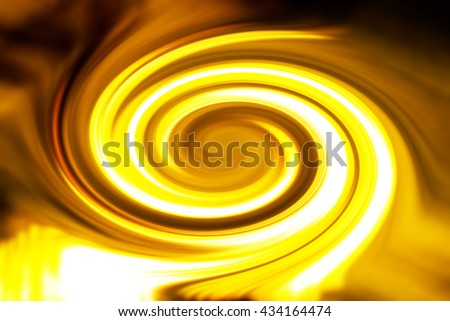 Abstract yellow spiral background illustration - stock photo