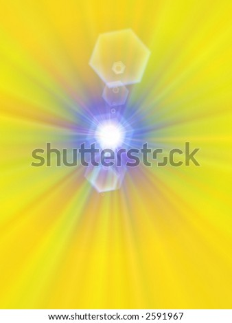abstract yellow starburst page design illustration effects